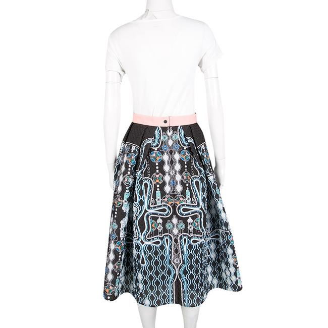 Peter Pilotto Textured Polyester Viscose Skirt Black Image 2
