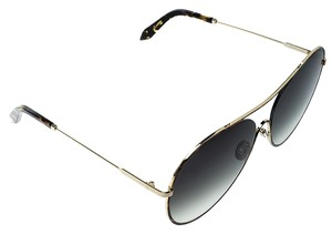 e469898fa Victoria Beckham Gold Plated/Green Gradient VBS131 Loop Round Sunglasses