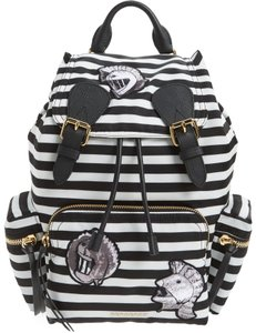 Burberry Pallas Helmet Rucksack Striped Backpack