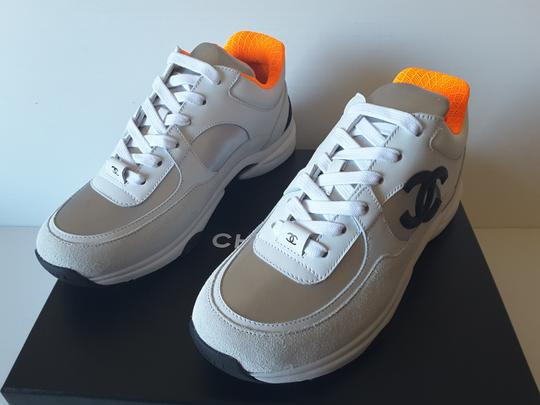 Chanel Sneakers white/silver/orange Athletic Image 1