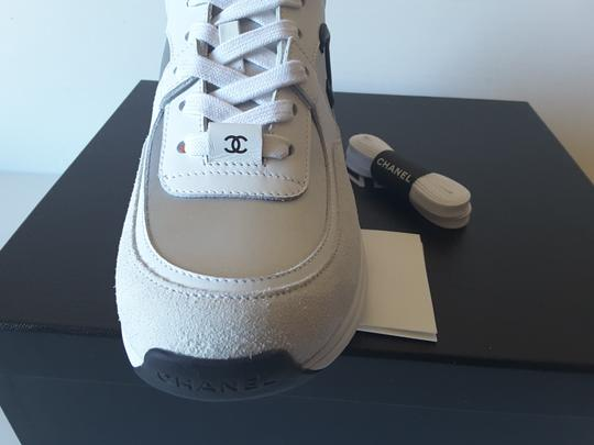 Chanel Sneakers white/silver/orange Athletic Image 5