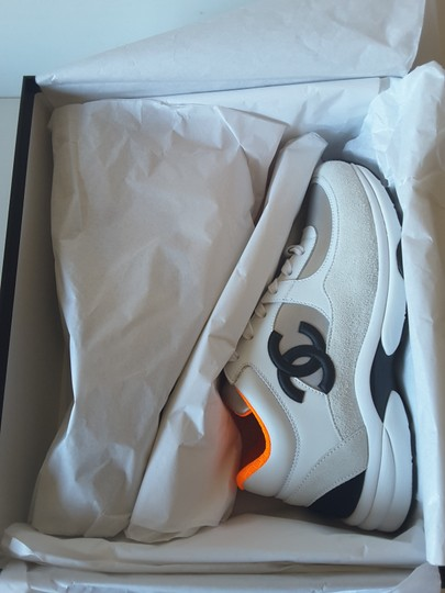 Chanel Sneakers white/silver/orange Athletic Image 8