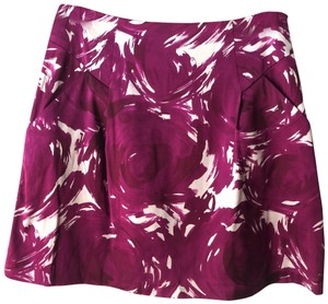 Theory Floral Sateen Print Date Night Spring Skirt pink