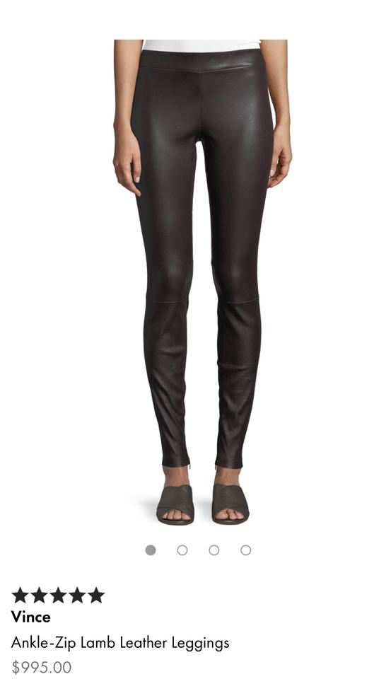 2830fa9d91214 Vince Black Leather with Ankle Zip Leggings Size 2 (XS, 26) - Tradesy