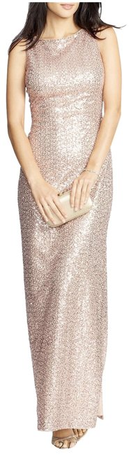 Item - Rose Gold/ Gold Gown Long Formal Dress Size 4 (S)