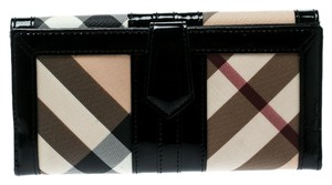 Burberry Black/Beige Nova Check PVC and Patent Leather Wallet