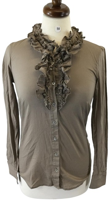Item - Light Brown Button-down Top Size 0 (XS)