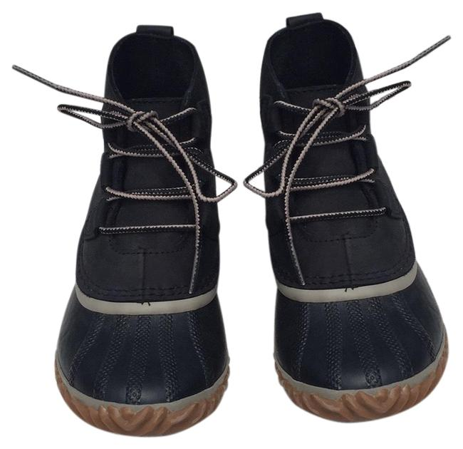Item - Black Grey Tan Out N About Leather Duck Boots/Booties Size US 7.5 Regular (M, B)