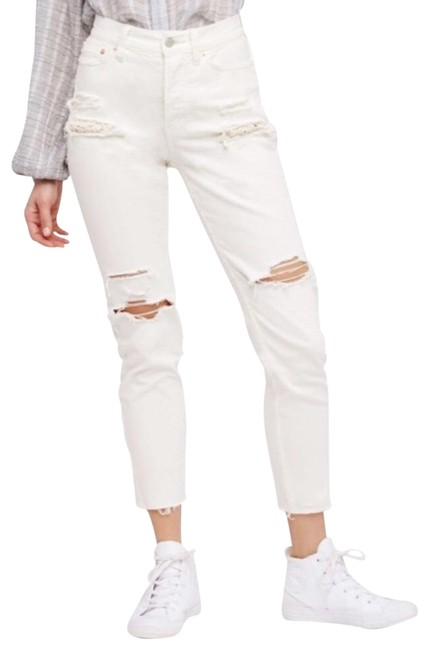 Item - White Distressed Lace Skinny Jeans Size 8 (M, 29, 30)