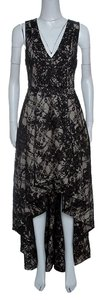 Black Maxi Dress by Alice + Olivia Polyester Lace