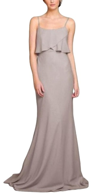 Item - Alpine - Grey Blake Gown Long Formal Dress Size 4 (S)