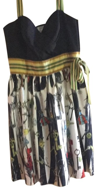 Item - Multiple Colors Green Yellow Navy Never Worn Perfect Condition Mid-length Short Casual Dress Size 10 (M)