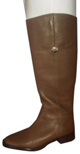 Tory Burch tumbled leather rustic brown Boots