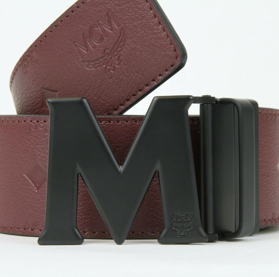 920c1acfa0a4a MCM Burgundy Leather Reversible Embossed Monogram 2xl Mxb8amm48nk130 Belt -  Tradesy