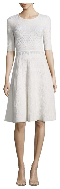 Item - Gardenias Grayson Textured Fit & Flare Knit Mid-length Formal Dress Size 12 (L)