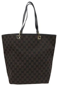 Gucci Monogram Logo Purse Travel Carryall Work School Initial Carryall Neverfull Weekend Beach Tote in Brown
