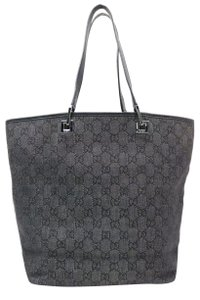 Gucci Travel School Work Beach Neverfull Weekend Business Purse Initial Logo Gift Vacation Tote in black/silver