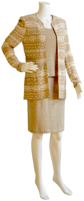 Item - Beige Three Piece Collection By Marie Gray Skirt Suit Size Petite 4 (S)