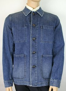Burberry Blue London Denim Decorative Washed Trim Jacket 54 Eu/44 Us 4041801 Groomsman Gift