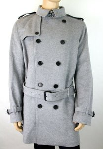 Burberry Gray London Melange Wool/Cashmere Trench Coat 58 Eu/ 48 Us 4022692 Groomsman Gift
