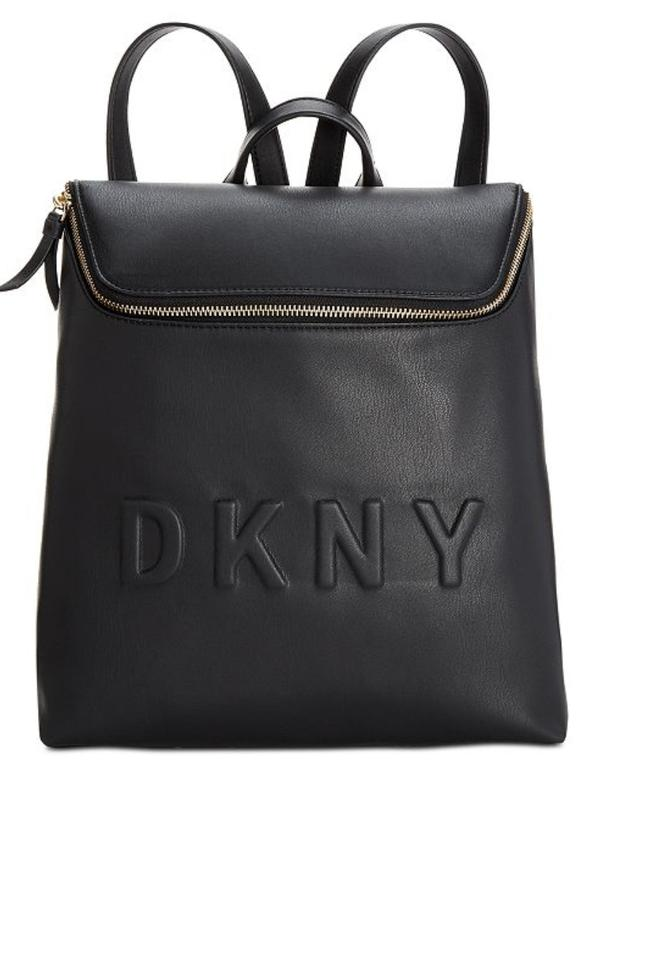 c528b355ab DKNY Tote Bag Tilly Medium Top Zip Purse Black Saffiano Leather Backpack  26% off retail