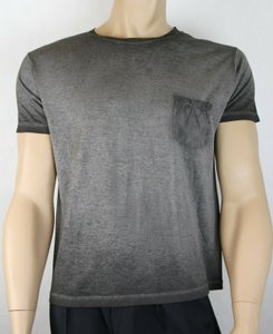 Saint Laurent Grey Men's Dyed Fine Knit Cotton Fitted T-shirt S 375900 1450 Groomsman Gift