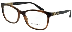 Burberry BE2242-3623-53 Square Women's Brown Frame Clear Lens Eyeglasses