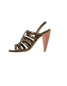 Lanvin Heels Strappy Olive Grey Sandals
