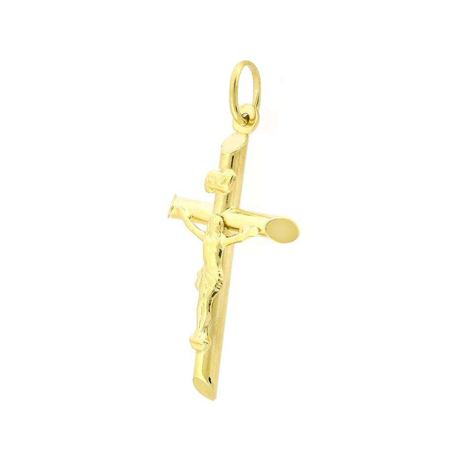 Avital & Co Jewelry 14k Yellow Gold Crucifix Religious Cross Pendant Italy  Necklace 66% off retail