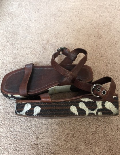 Miu Miu Brown Wedges Image 5