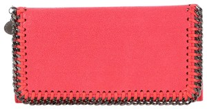 Stella McCartney Pink Shaggy Deer Falabella Flap Wallet