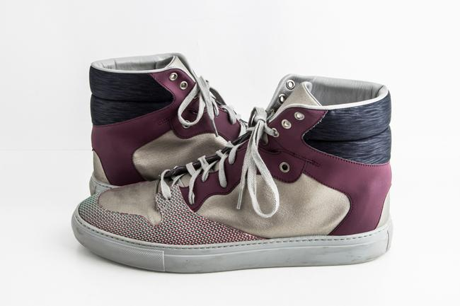 Item - Grey Grey/Purple/Black High-top Sneakers Shoes