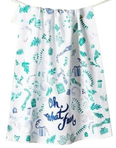 Anthropologie Blue Oh What Fun Dishtowel Other