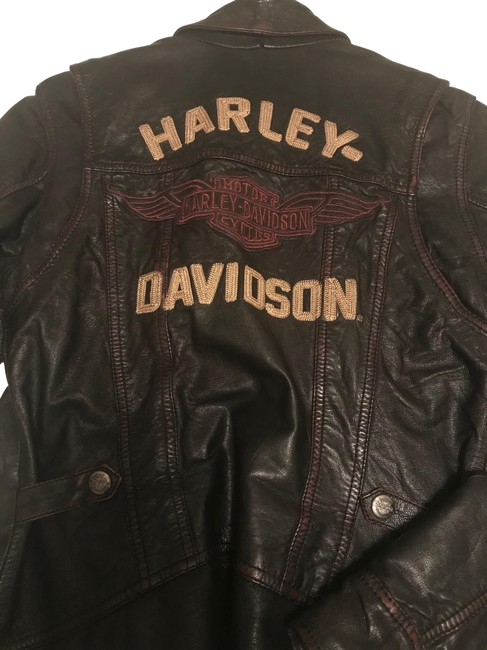 Item - Black Leather with Red Highlights Clothes Jacket Size 8 (M)