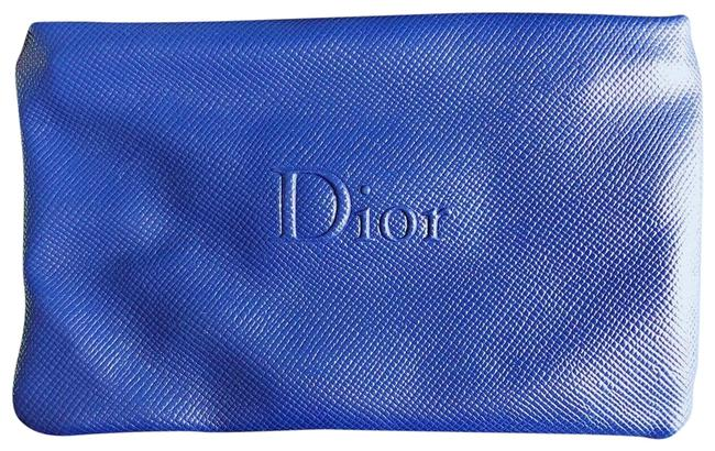 Item - Blue Christian Faux Leather Makeup Case New Cosmetic Bag