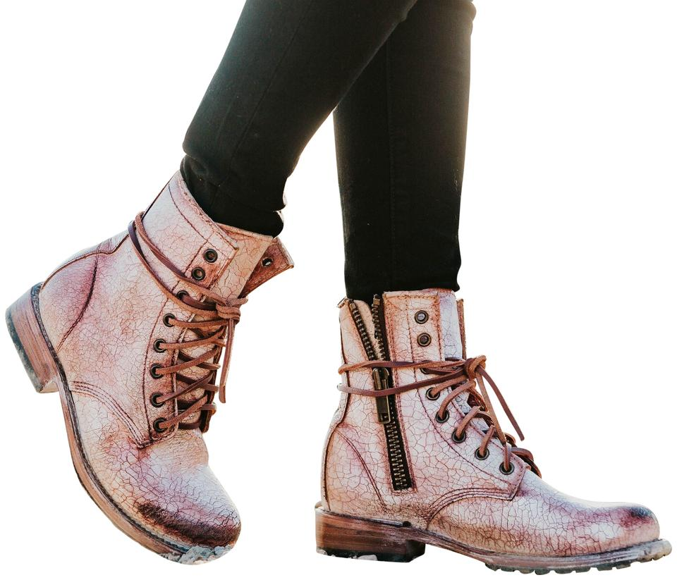 82b63a64cde FREEBIRD by Steven Pink Manchester Distressed Lace Boots/Booties Size US 9  Regular (M, B)