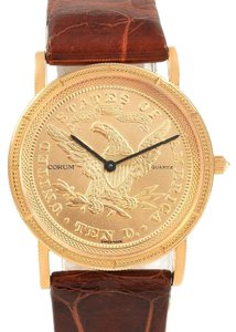 Corum Corum Yellow Gold 10 Dollars Coin Diamond Ladies Watch Year 1882