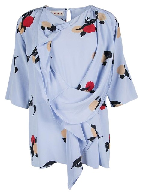 Preload https://img-static.tradesy.com/item/25340569/marni-blue-floral-printed-silk-draped-front-blouse-size-8-m-0-1-650-650.jpg
