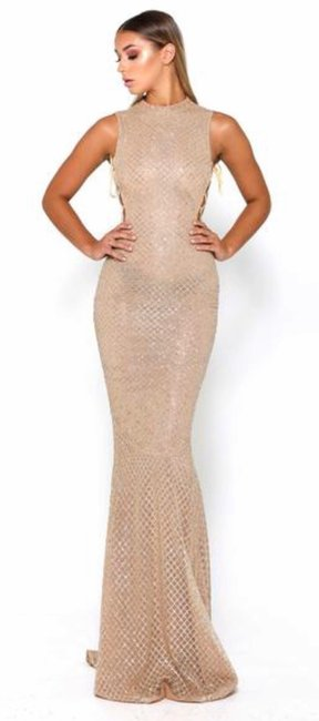 Item - Gold Zachary Gown Sexy Bridesmaid/Mob Dress Size 4 (S)