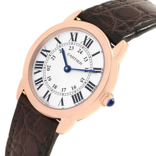 Cartier Cartier Ronde Solo Steel 18K Rose Gold Small Ladies Watch W6701007 Image 4