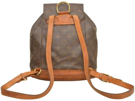 Louis Vuitton Monogram Shoulder Handbag Montsouris Mm Backpack Image 1