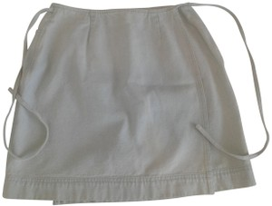 Ralph Lauren Cotton Wrap Around Above Knee Great Denim Made In Hong Kong Mini Skirt light blue