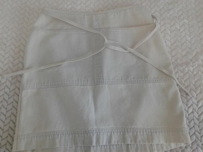 Ralph Lauren Cotton Wrap Around Above Knee Great Denim Made In Hong Kong Mini Skirt light blue Image 2