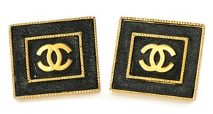 Chanel Chanel Vintage Accessories Large Stud Square CC Earrings.