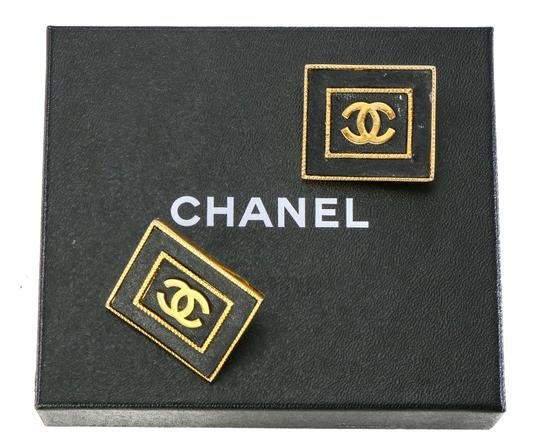 Chanel Chanel Vintage Accessories Large Stud Square CC Earrings. Image 1