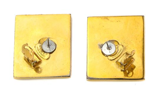 Chanel Chanel Vintage Accessories Large Stud Square CC Earrings. Image 2