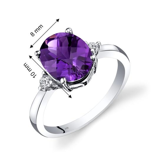 other Amethyst Oval Ring Image 2