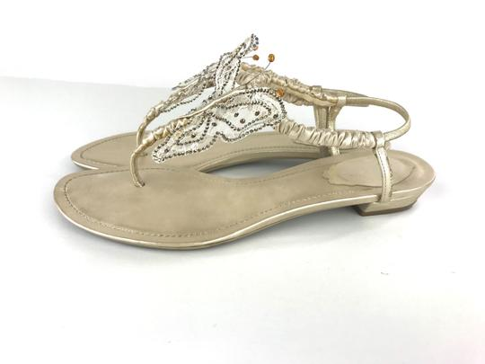 Rene Caovilla Sparkly Butterfly Thong Gold Sandals Image 4