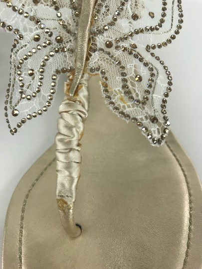 Rene Caovilla Sparkly Butterfly Thong Gold Sandals Image 6