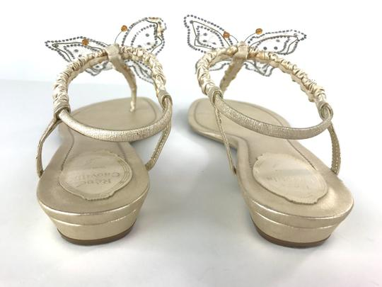 Rene Caovilla Sparkly Butterfly Thong Gold Sandals Image 8